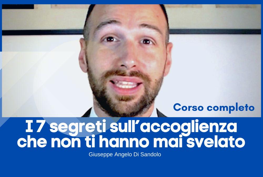 Il corso completo di Giuseppe Angelo Di Sandolo è prenotabile qui